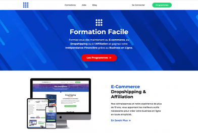 Formationfacile.com – Le site de formation en ligne dans le dropshipping, e-commerce, affiliation et webmarketing